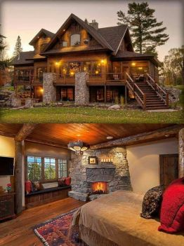 interior and exterior shots of rustic home