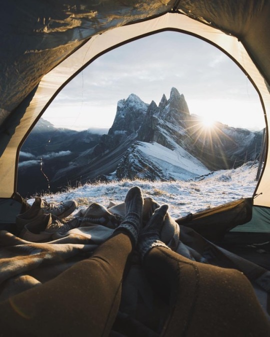 mountain view from tent