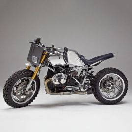trail bike with chrome gas tank