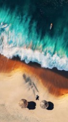 view of surfer from above