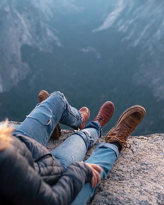 couple taking in the mountain view