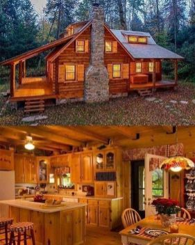 cozy cabin in the woods