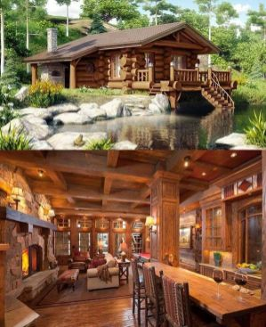 log cabin with spacious interior