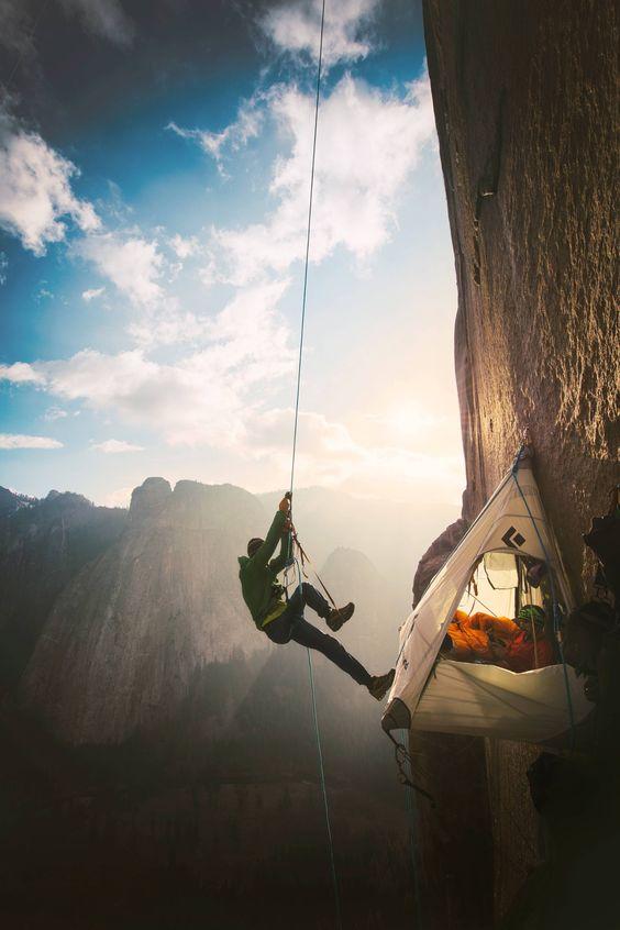 mountain climber camp
