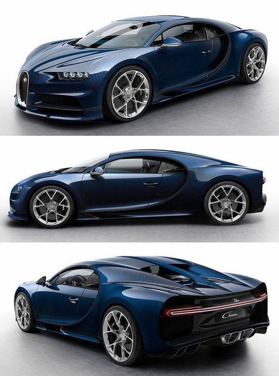 blue bugatti