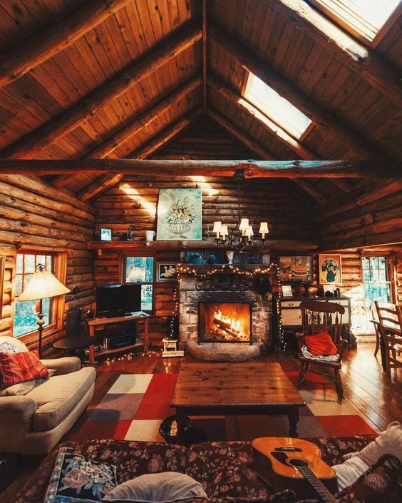 cozy cabin interior