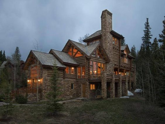 large stone home