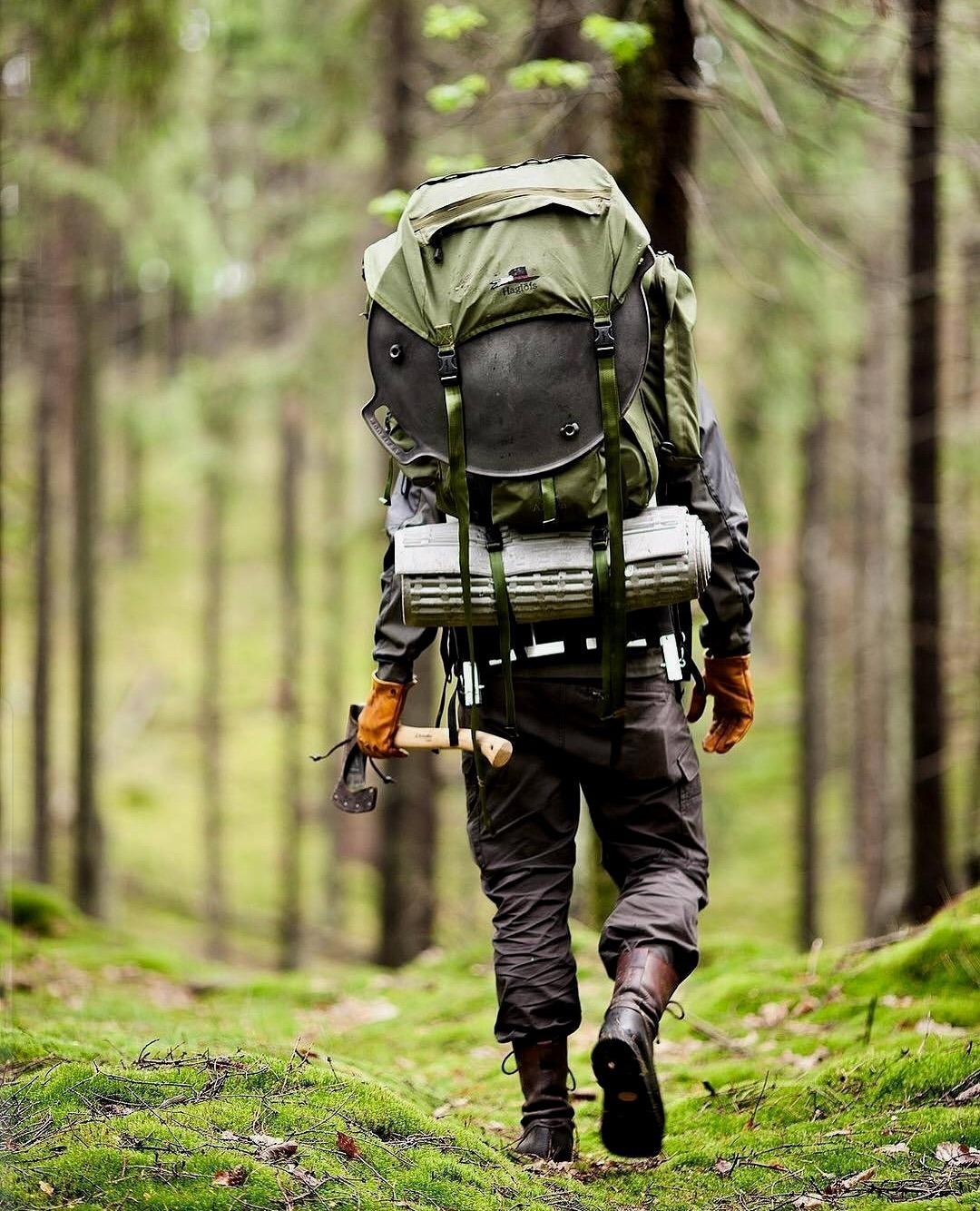 man going camping