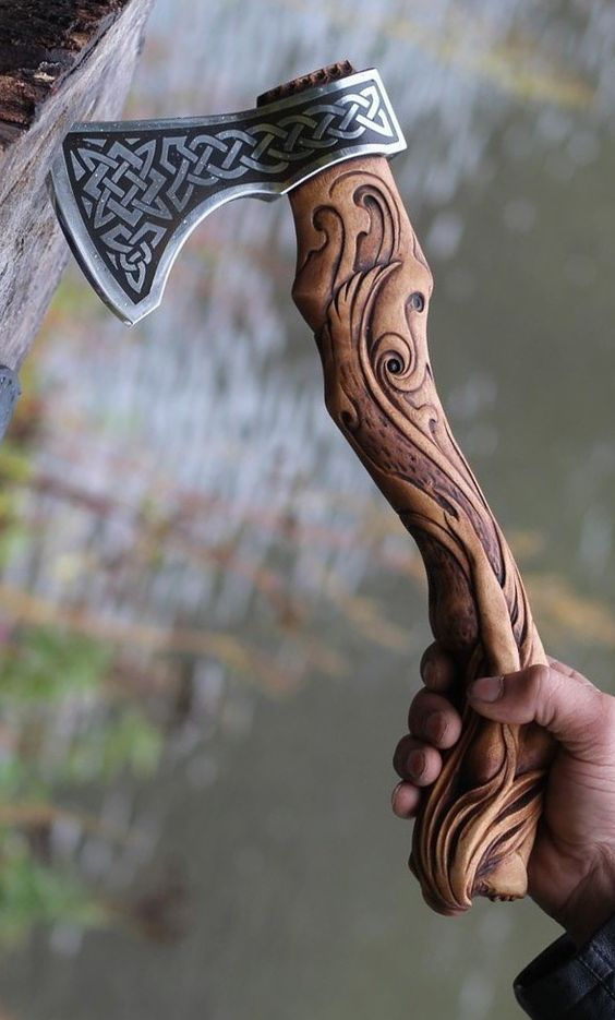 hand carved ax