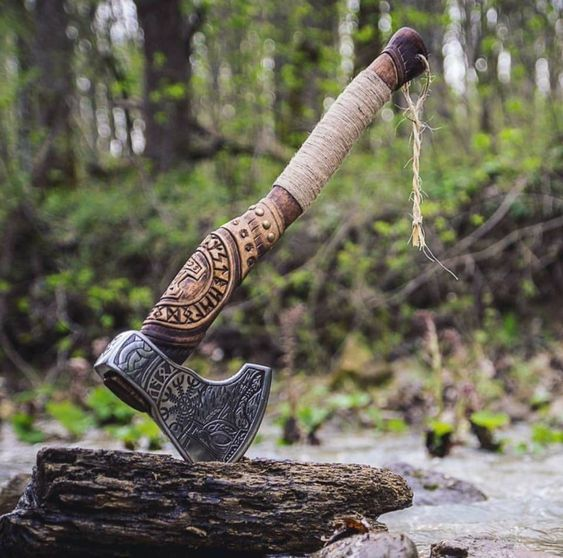 hand crafted axe