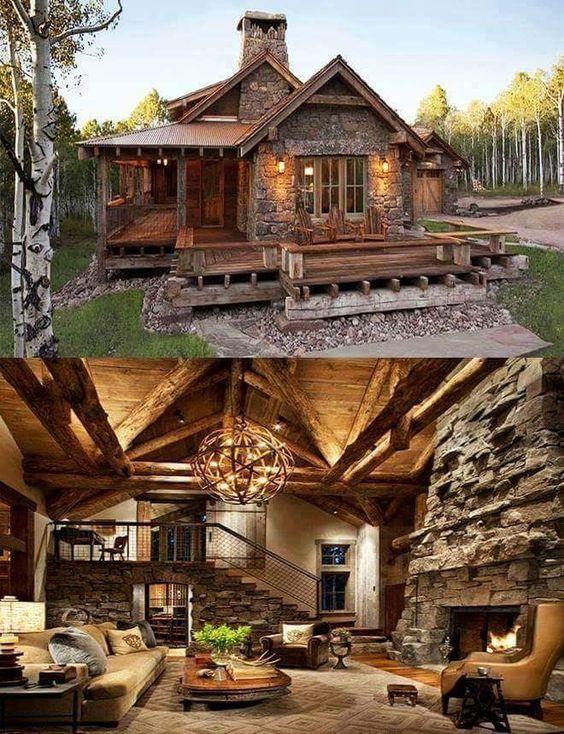 cabin interior and exterior