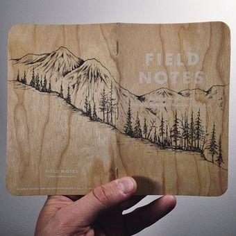 mountain scene field notes