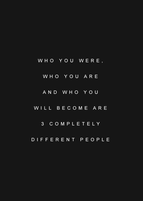 who you were