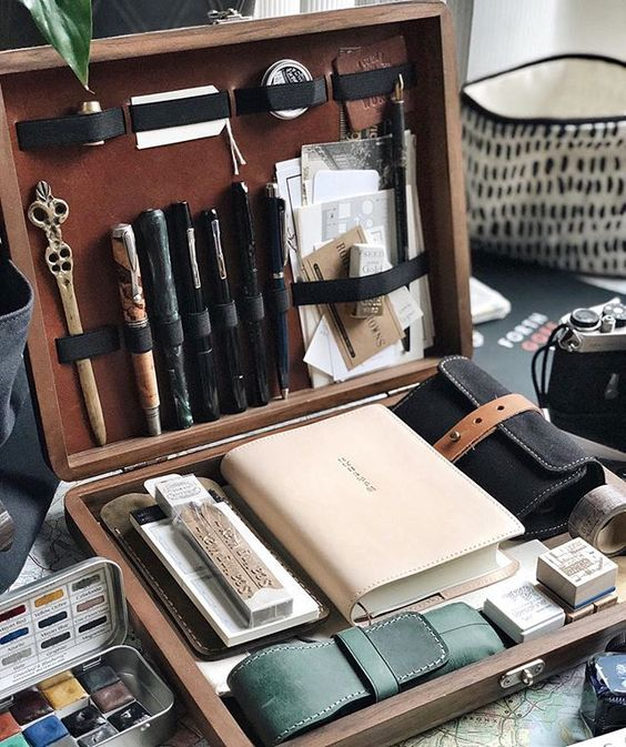 sophisticated collection of manly materials
