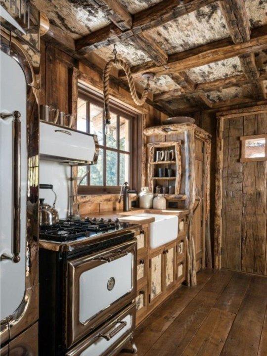 all wood interior