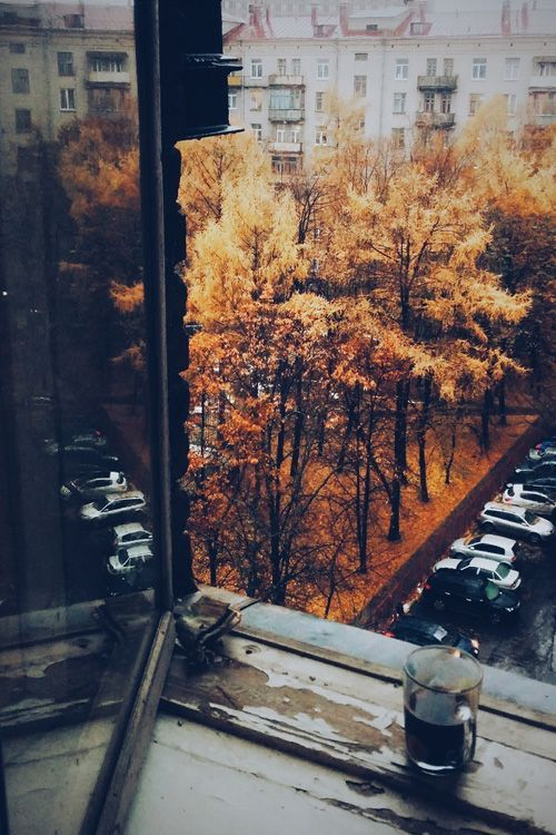 coffee on window sill