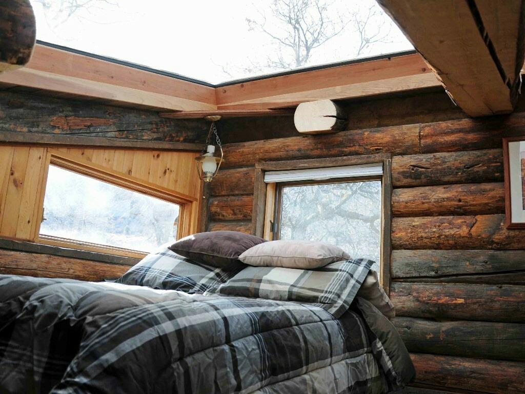 huge skylight above bed