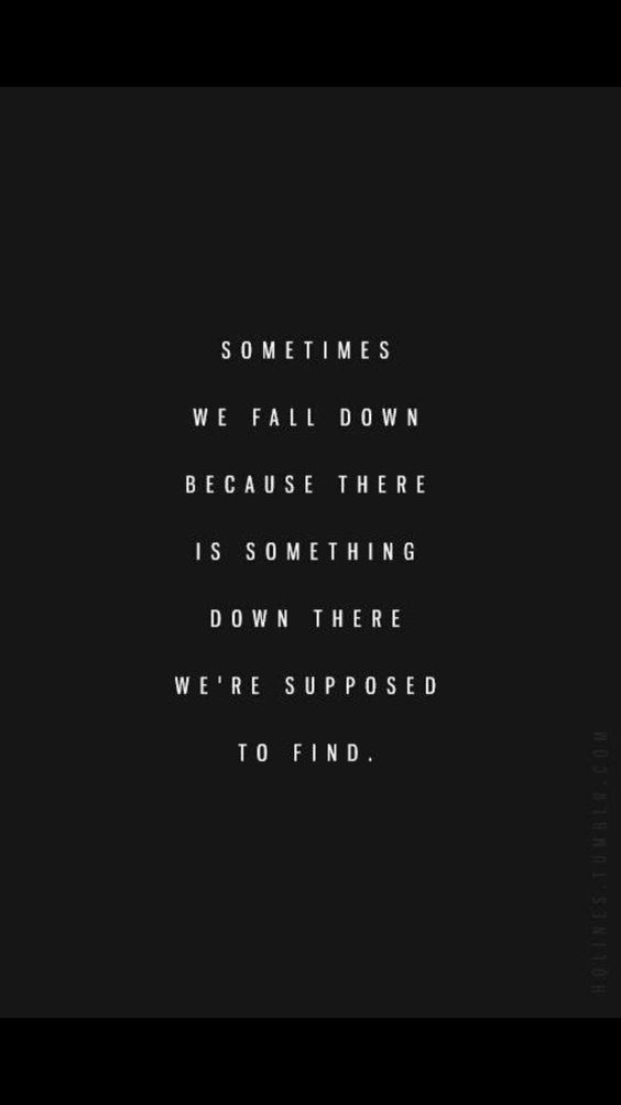 sometimes we fall down