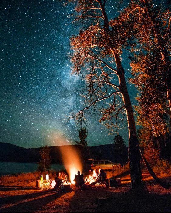 summer night campfire