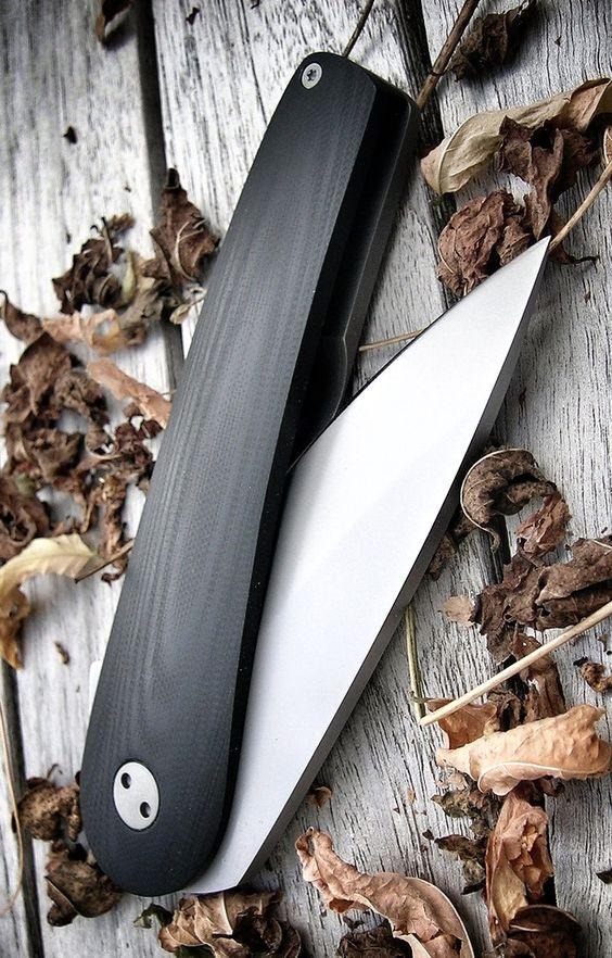 black custom wood grain knife