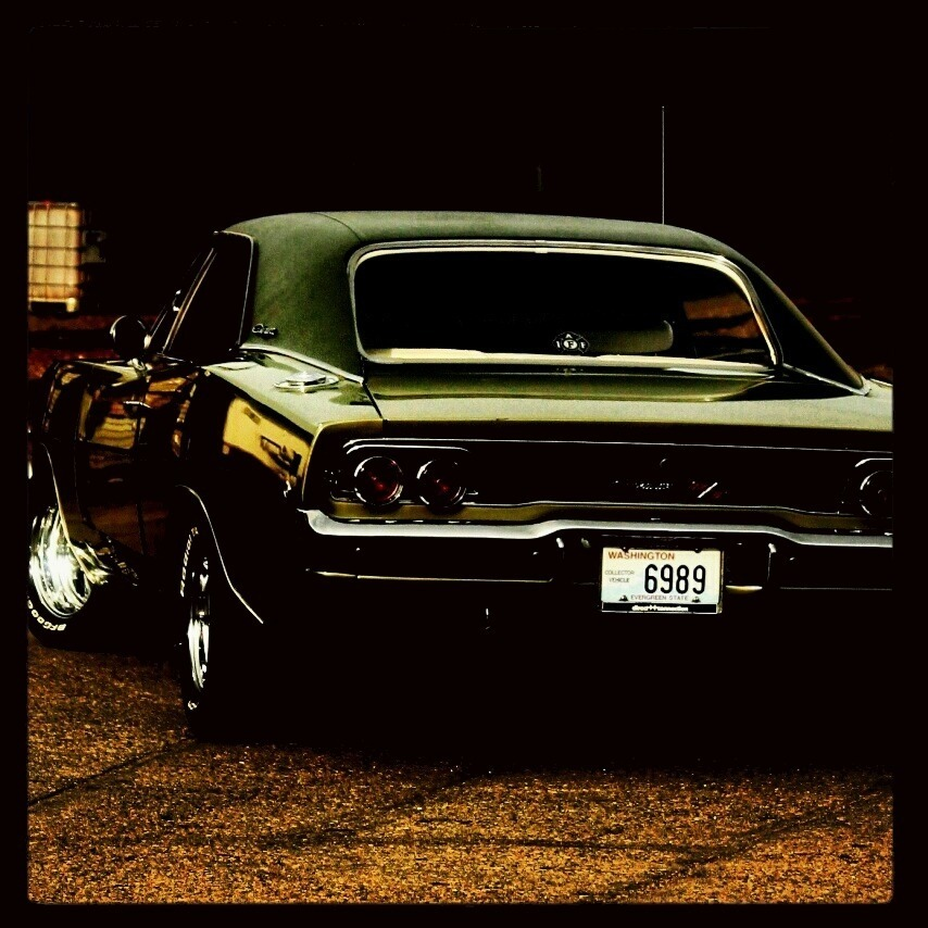 green dodge challenger