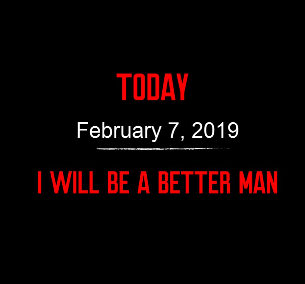 better man 2-7-19