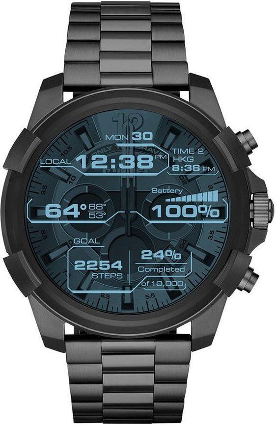 Full-Guard-Gunmetal-Stainless-Steel-Bracelet-Smart-Watch-48mm