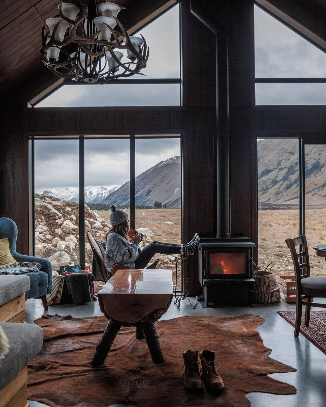 luxury cabin with a view