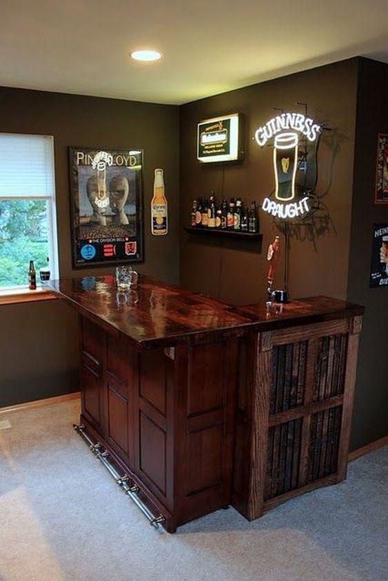 masculine home bar