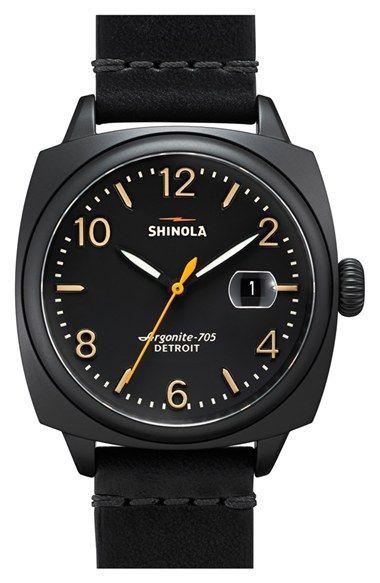 Mens Shinola - The Brakeman - Leather Strap Watch