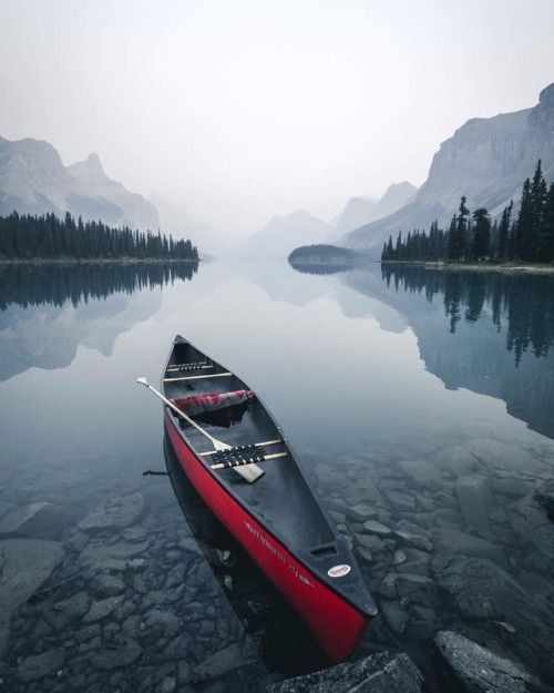 canoe in lake