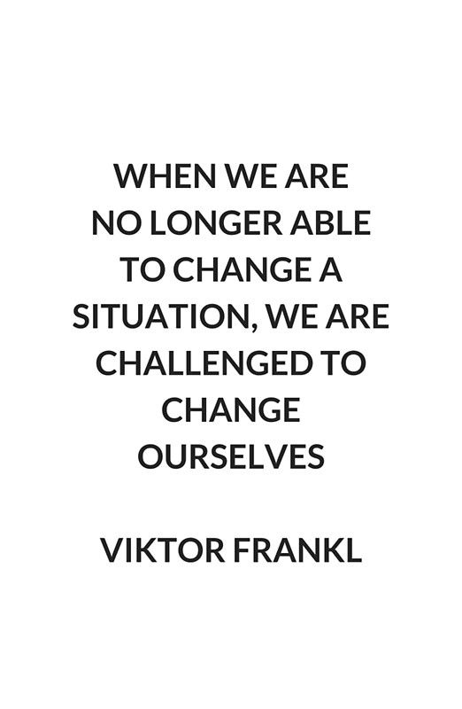 change ourselves