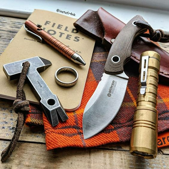 masculine edc with field notes notebook