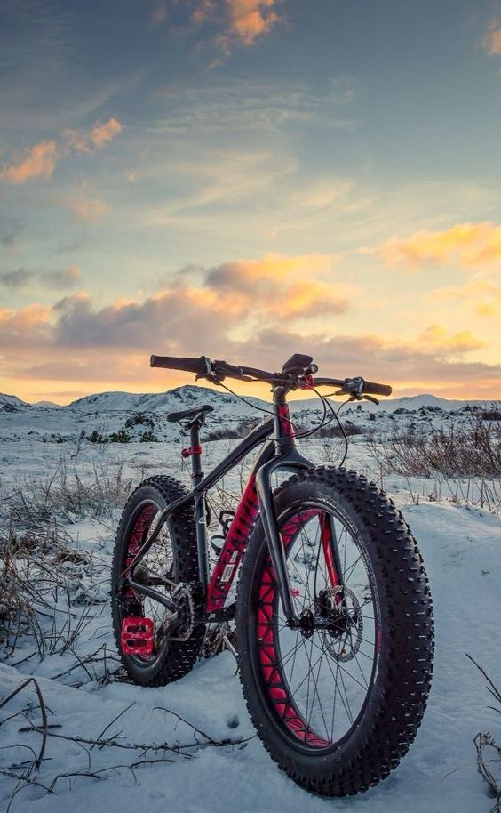 fat bike in snow