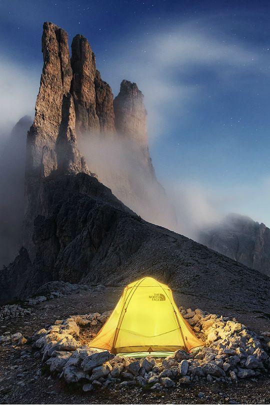 high mountain base camp