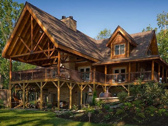 large cabin style home