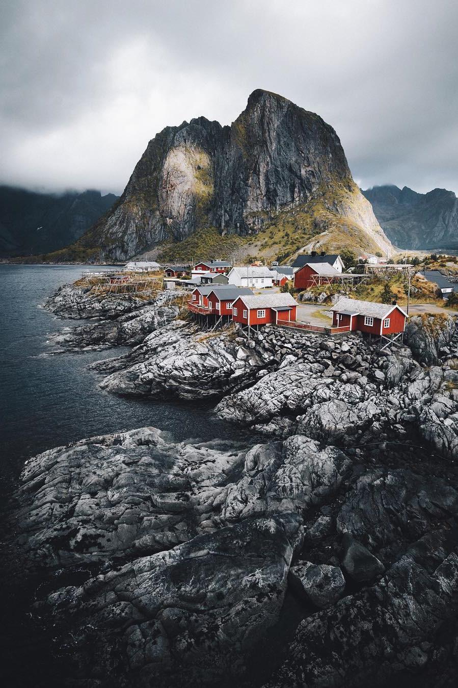 rugged mountain village