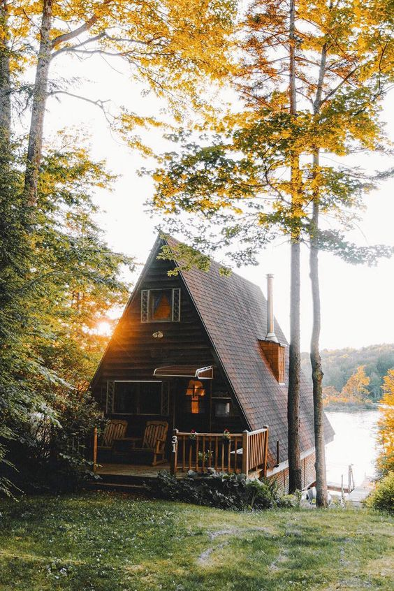 summer cabin by the lake