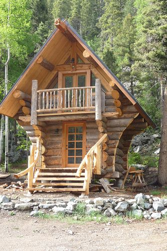 unique cabin in the woods