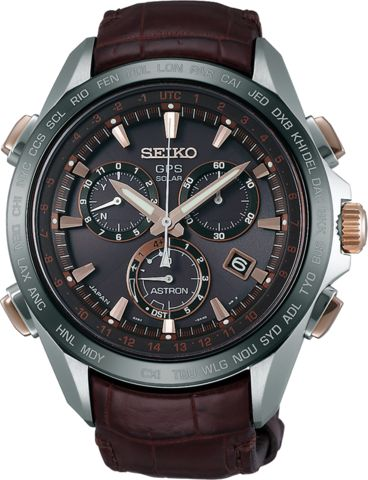Seiko Astron GPS Solar Chronograph Mens Watch