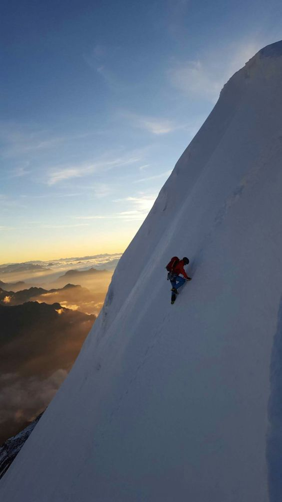 climbing above the clouds