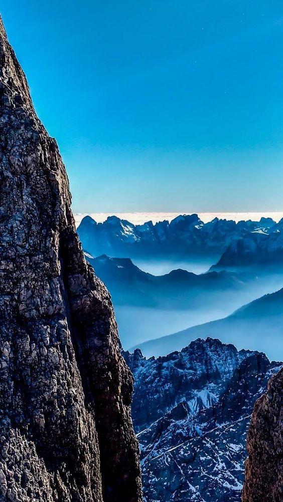 high mountain view