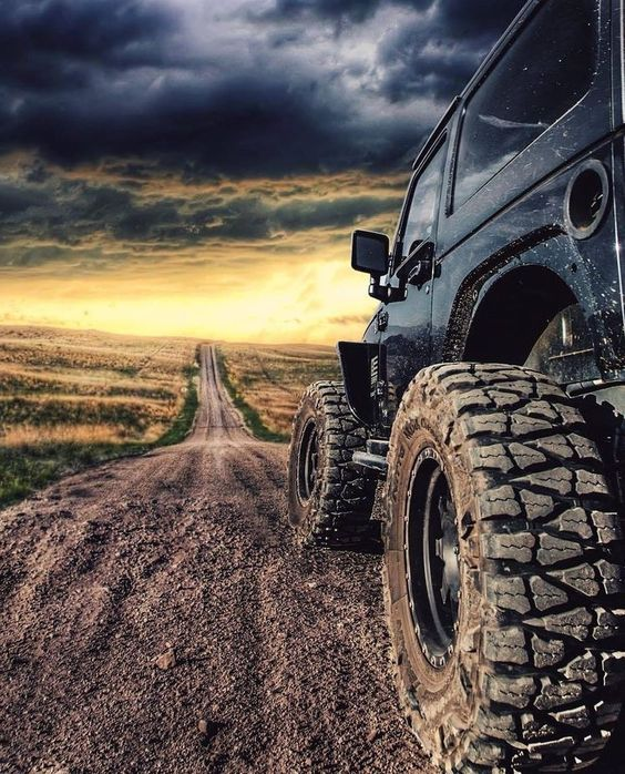 jeep and a dramatic sky