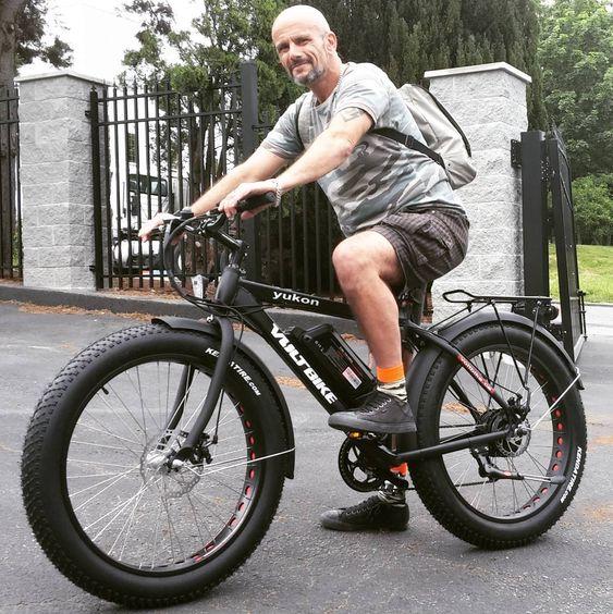 man on yukon fat bike