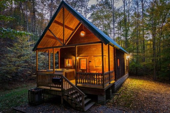 perfect little cabin in the woods