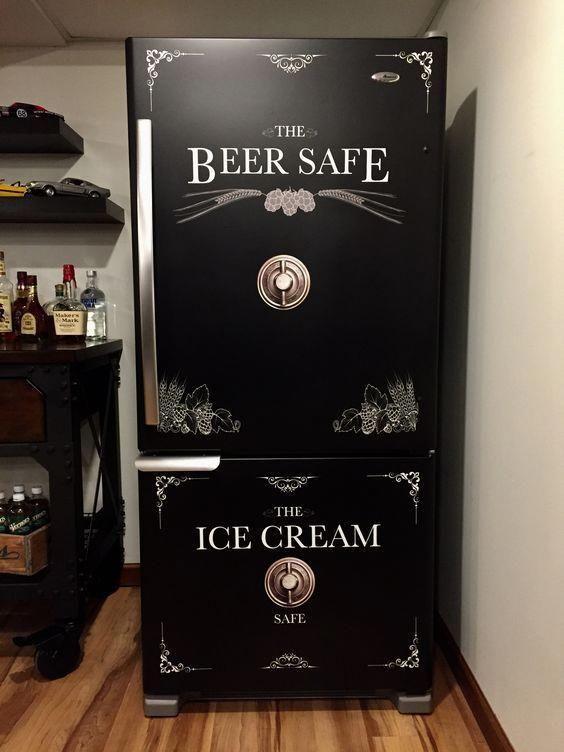 Beer Safe - Ice Cream Safe Refrigerator Wrap
