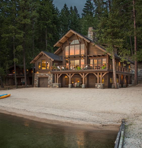 large rustic family home