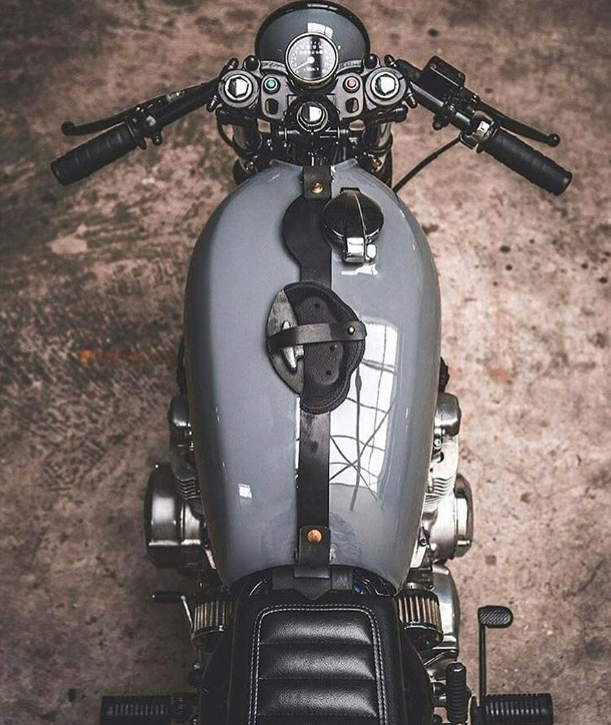 top down view of motorcycle