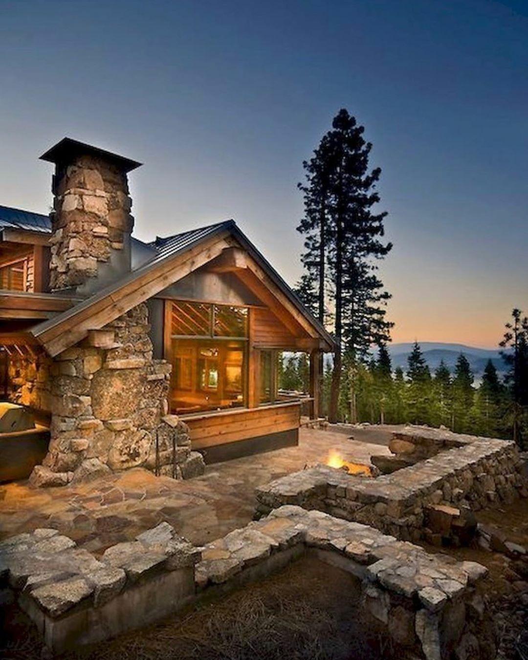 rustic mountain home