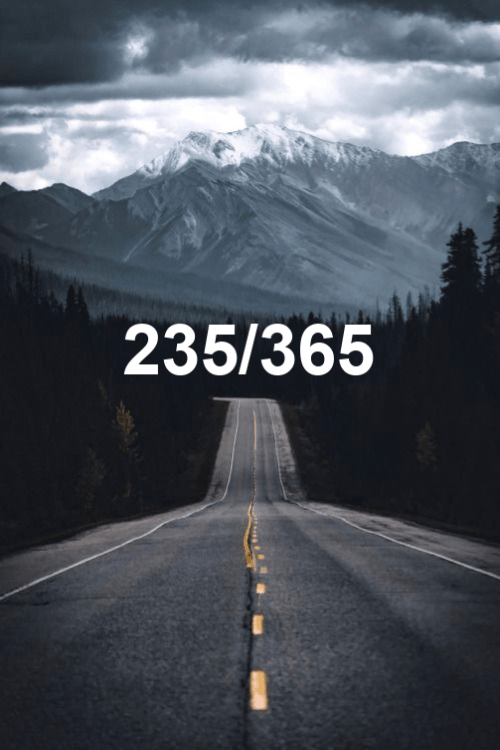 today is day 235 of the year 2019